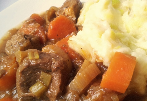 guiness beef stew and mash potatoes ok