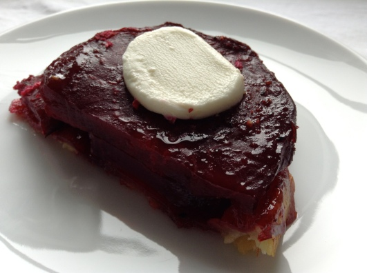 beetroot tatin goat cheese